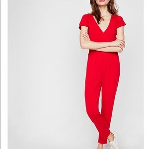 Express Causal Red Romper